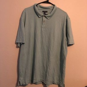VanHeusen Pin Stripe Light Green Button Up Shirt